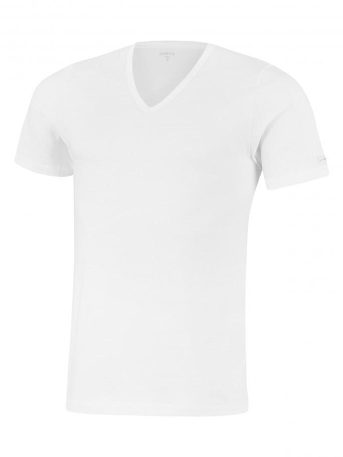T-shirt decote V Cotton Stretch